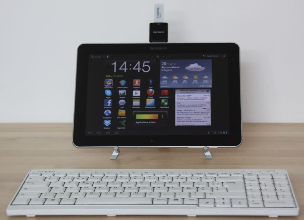 connecter un clavier sans fil a une tablette android galaxy tab iconia