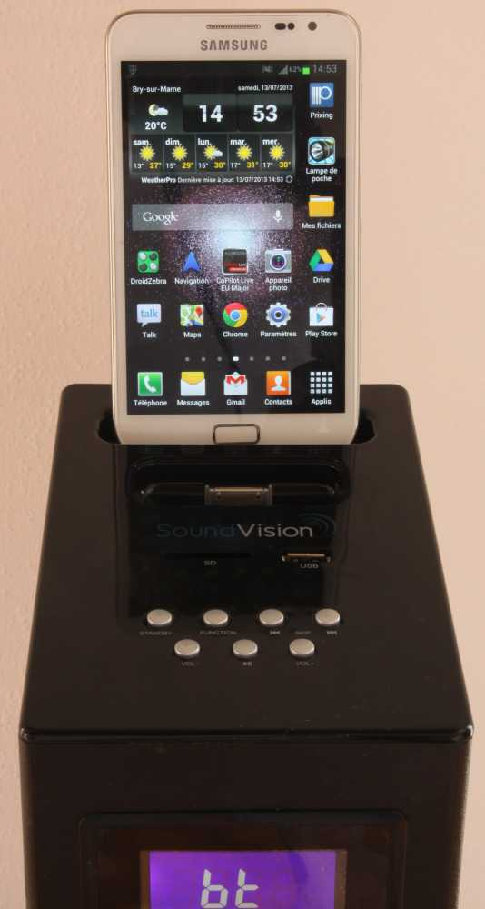 test soundvision sv t04bt une enceinte amplifi e bien. Black Bedroom Furniture Sets. Home Design Ideas
