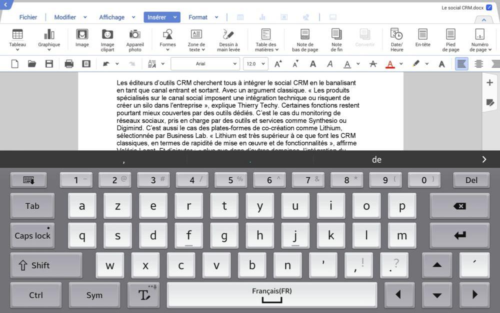 Hancom office une suite bureautique pour les tablettes android samsung professionnelles - Telecharger open office gratuit pour tablette android ...