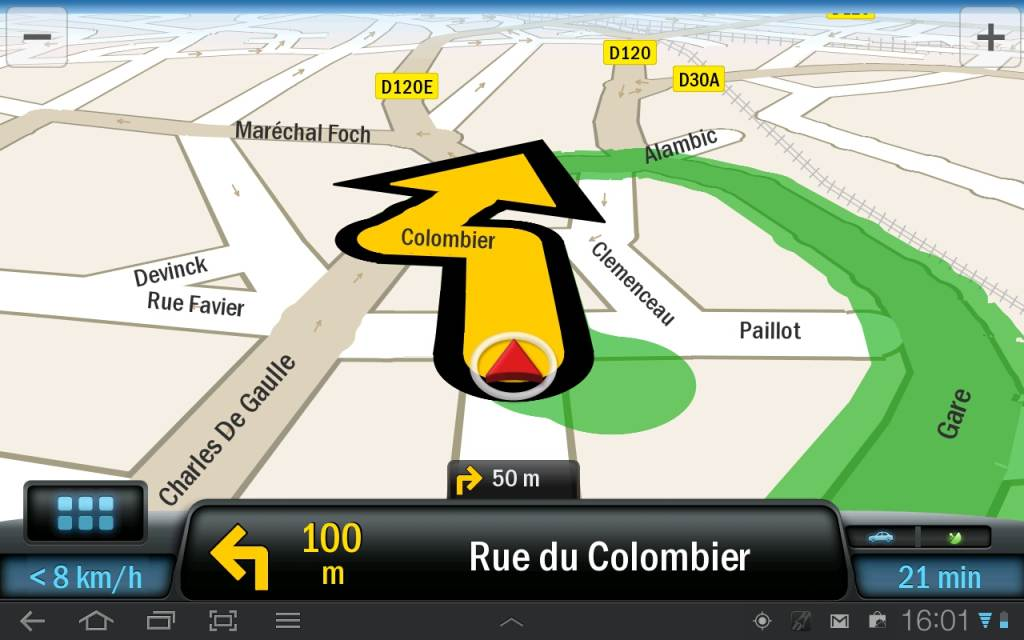 test copilot une bonne application de navigation gps sur tablette android tablette android. Black Bedroom Furniture Sets. Home Design Ideas