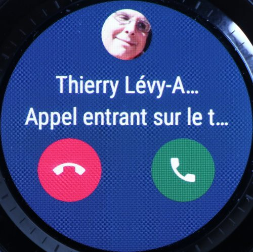 Android Wear 2.0 (réception d'un appel)