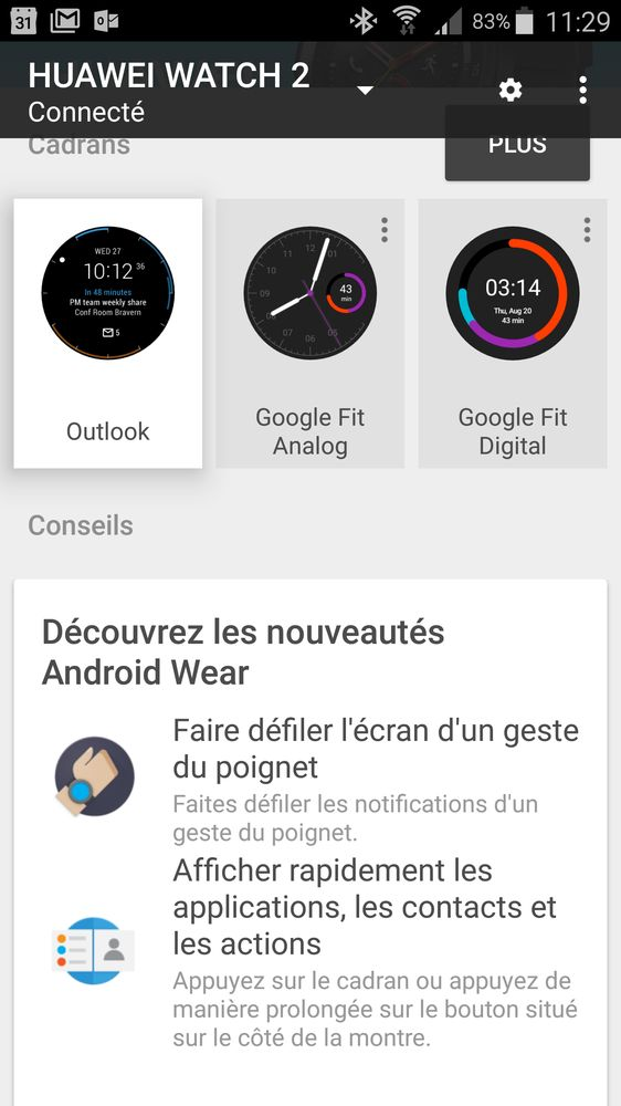 Android Wear 2.0 sur le smartphone