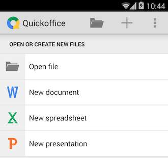 Android 4.4 KitKat (QuickOffice)