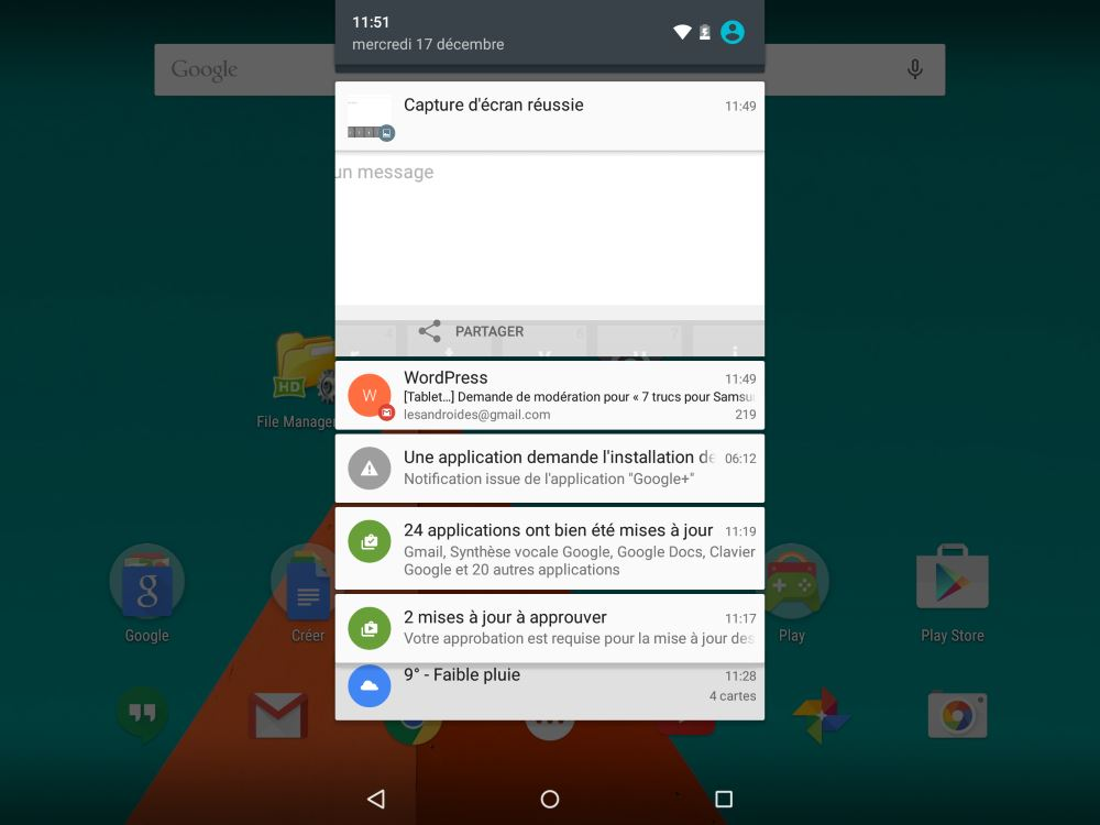 Android 5 (notifications)