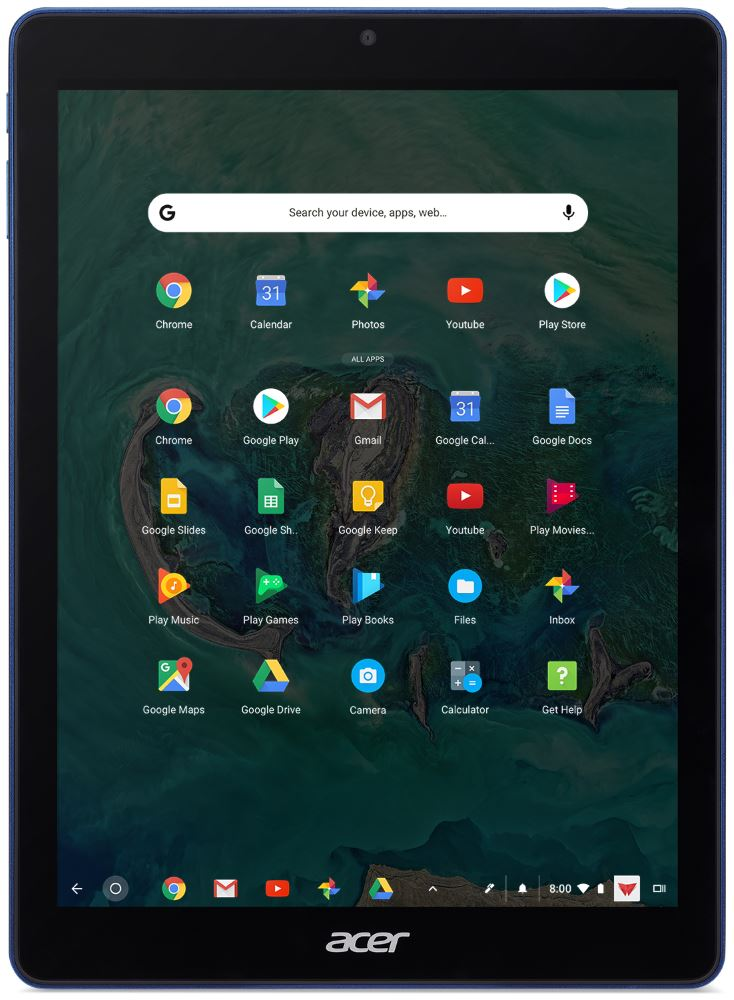 Acer Chromebook Tab 10 (format 4/3)