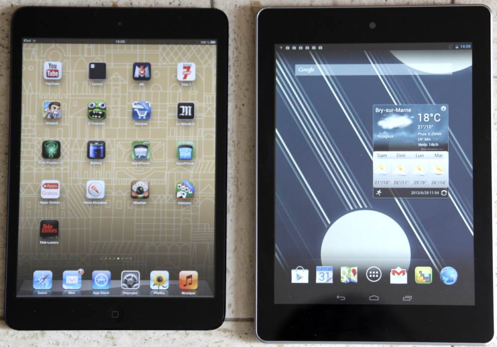 ipad mini VS Iconia A1 (écrans)