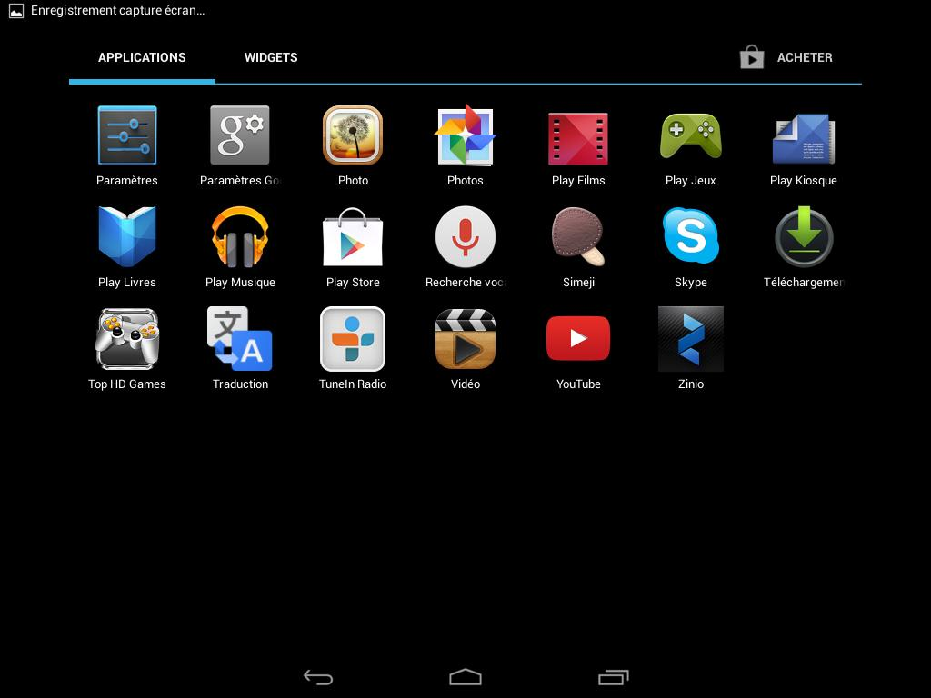 Acer Iconia A1-830 (applications 2)