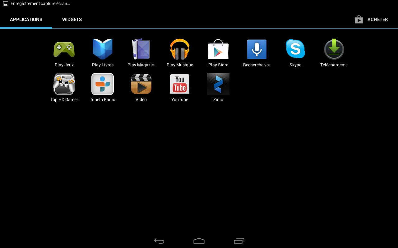 Acer Iconia A3-A10 - applications (suite)