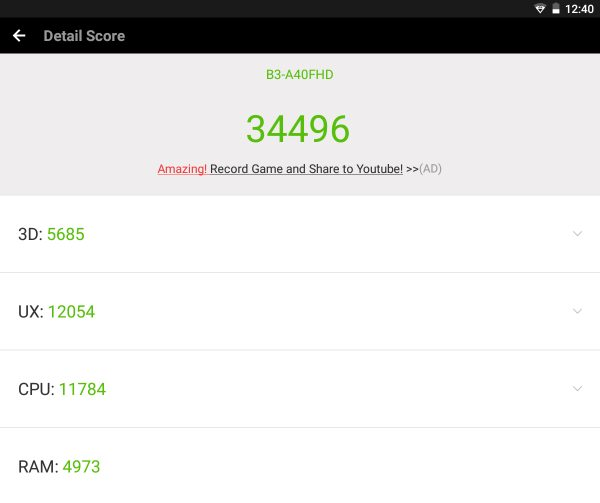 Test Antutu - Acer Iconia One 10 (B3-A40FHD)