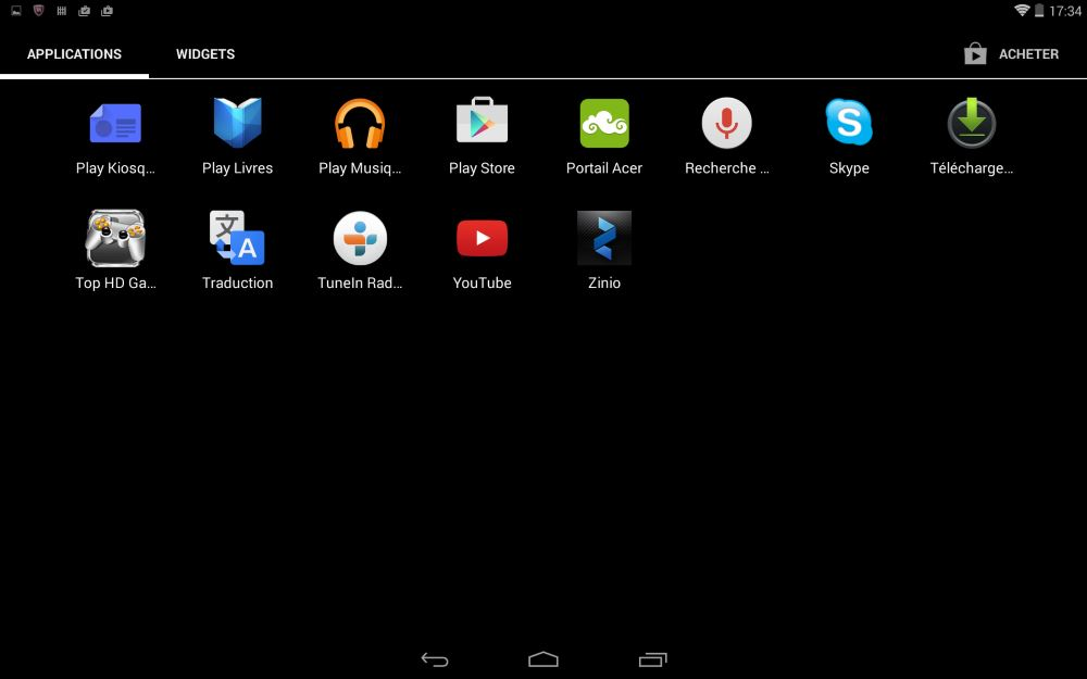 Iconia Tab 10 A3-A20 (applications, suite)