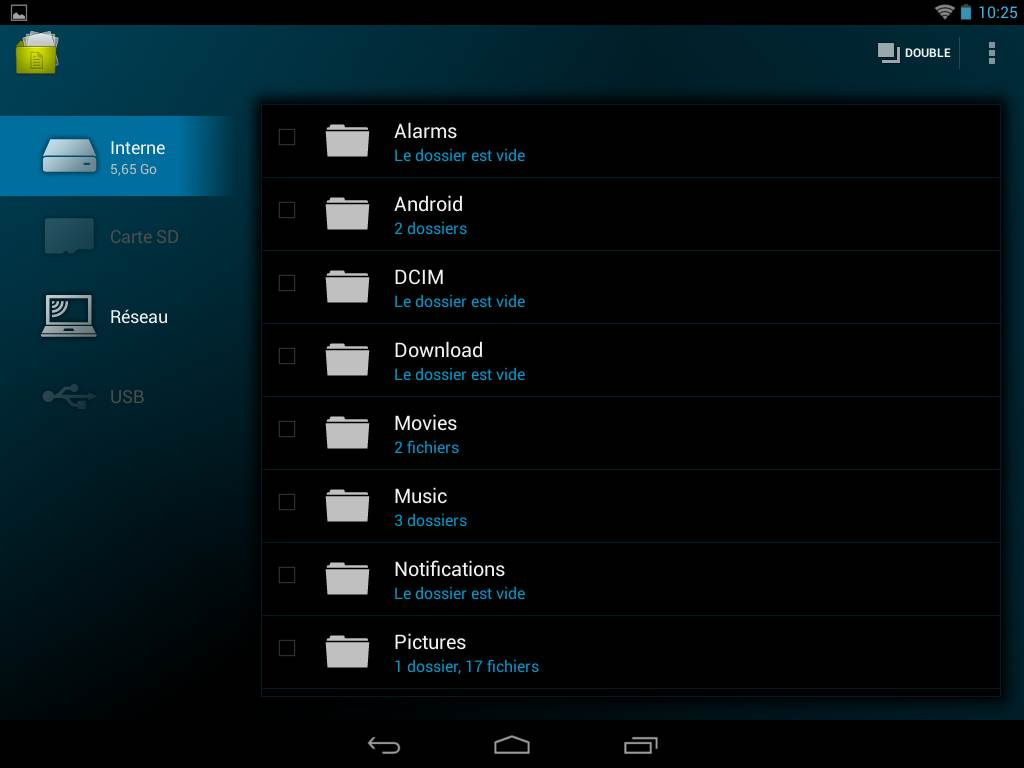 Archos 80b Platinum (file manager)