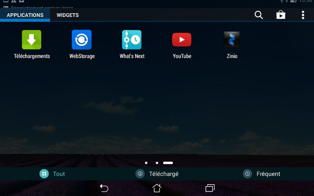 Asus MeMo Pad 8 (applications 3)