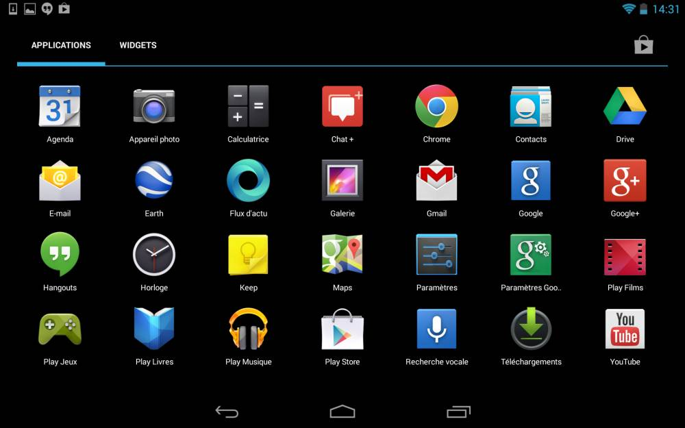 applications nouvelle Nexus 7