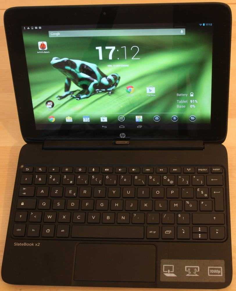 HP SlateBook x2 : un notebook sous Android