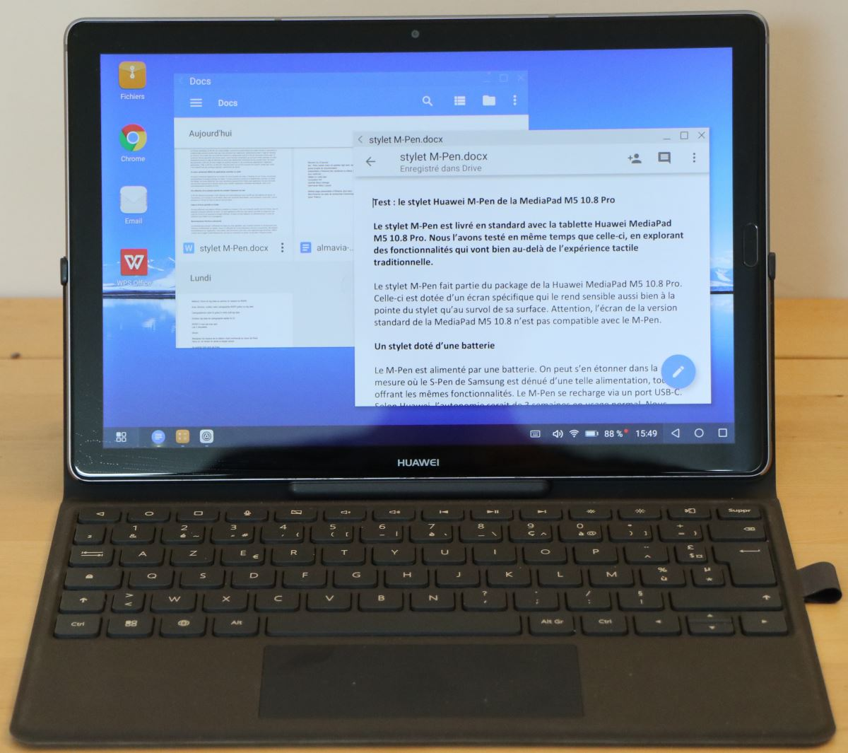 Huawei Keyboard Cover pour MediapPad M5 10.8