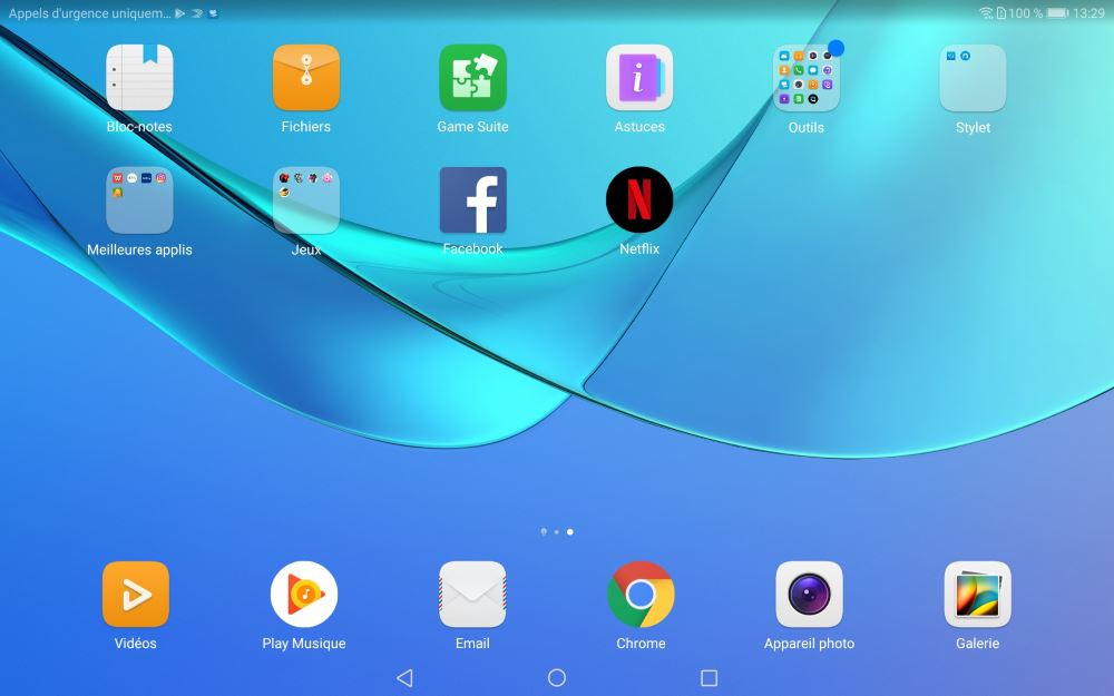 Applications de la Huawei MediaPad M5 10.8 Pro (suite)