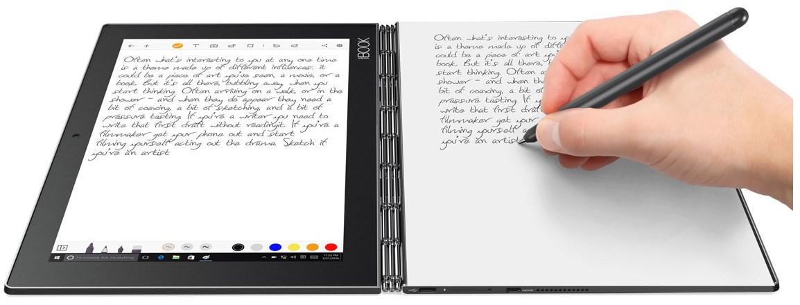 lenovo yoga book une tonnante tablette hybride dot e d. Black Bedroom Furniture Sets. Home Design Ideas
