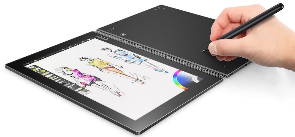 lenovo yoga book une tonnante tablette hybride dot e d une surface tactile tablette android. Black Bedroom Furniture Sets. Home Design Ideas