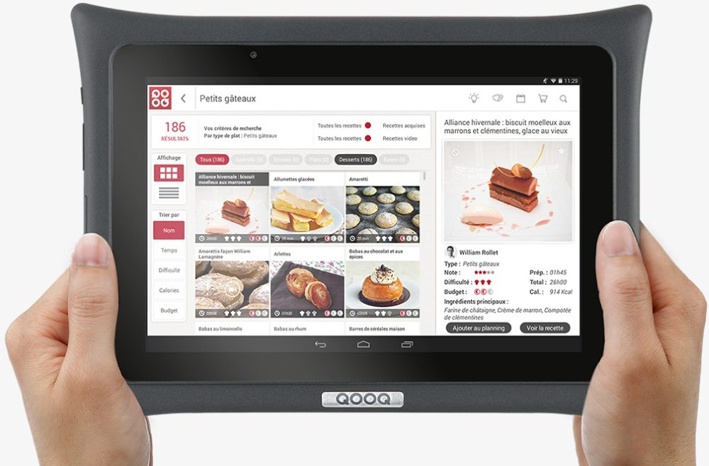 qooq ultimate une tablette android pour la cuisine tablette android. Black Bedroom Furniture Sets. Home Design Ideas