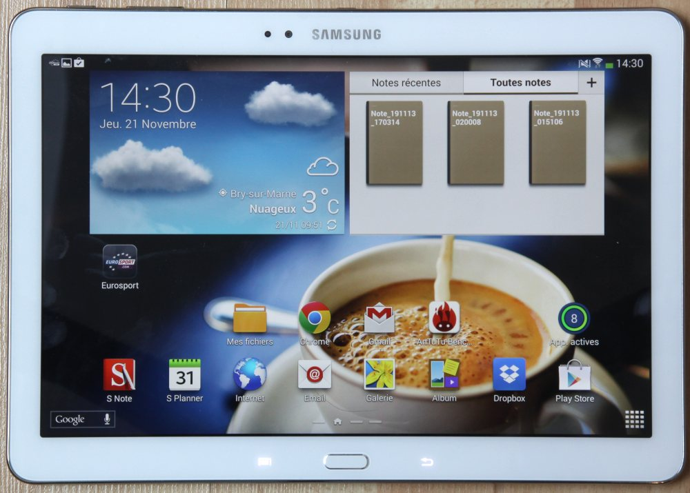 Test galaxy note 10 1 edition 2014 reine des tablettes for Photo ecran tablette samsung
