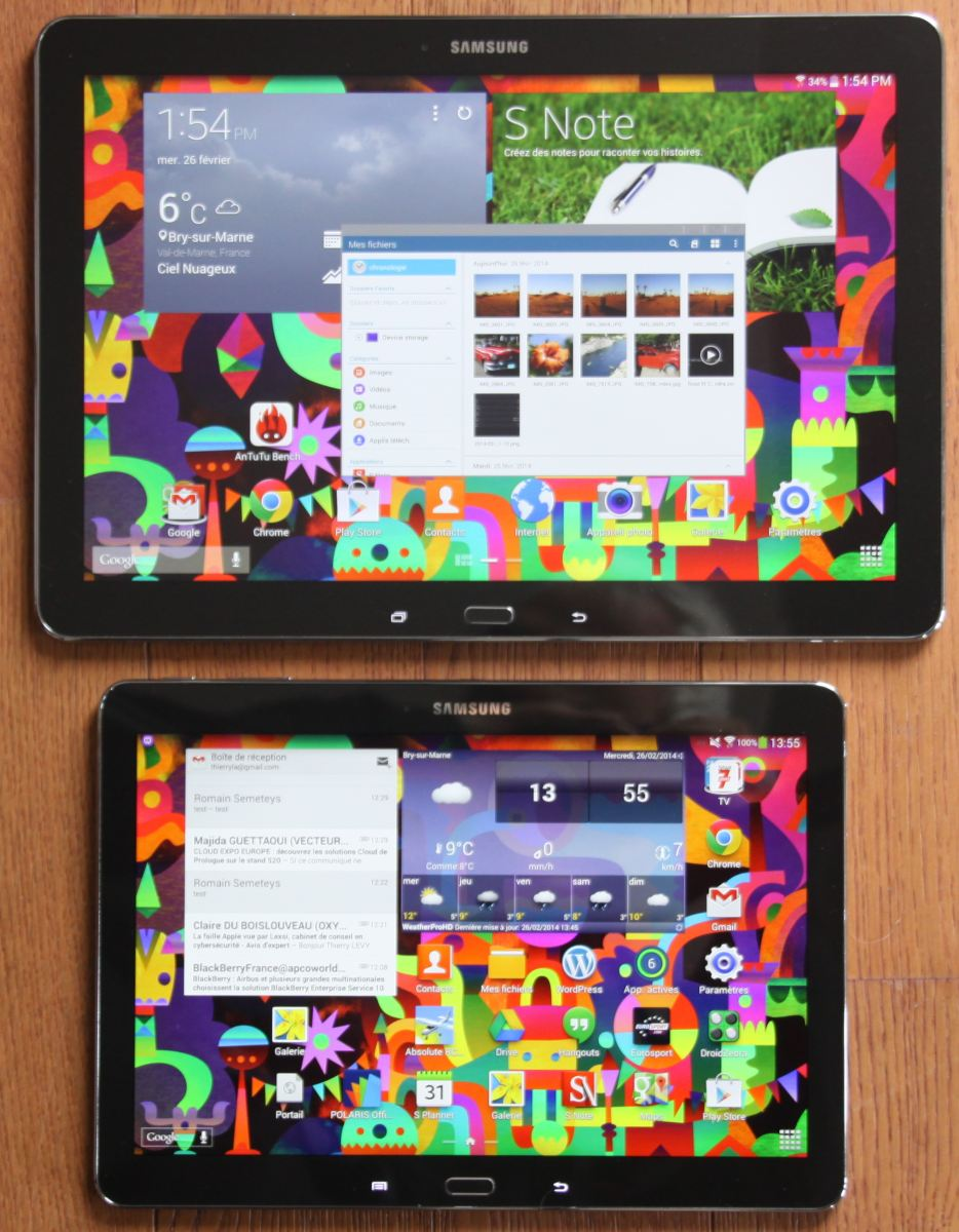 Galaxy Note Pro 12.2 versus Galaxy Note 10.1 Edition 2014