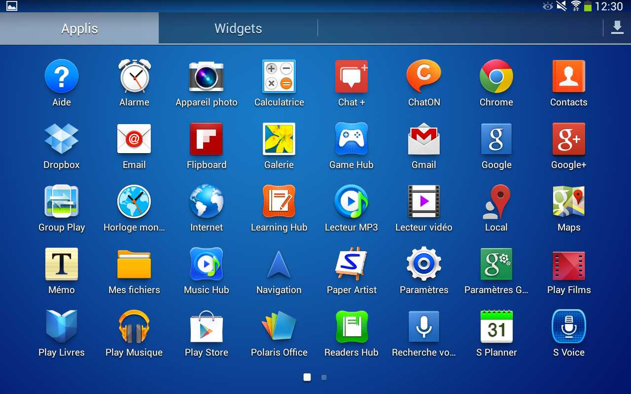 Galaxy Tab 3 10.1 (applications)