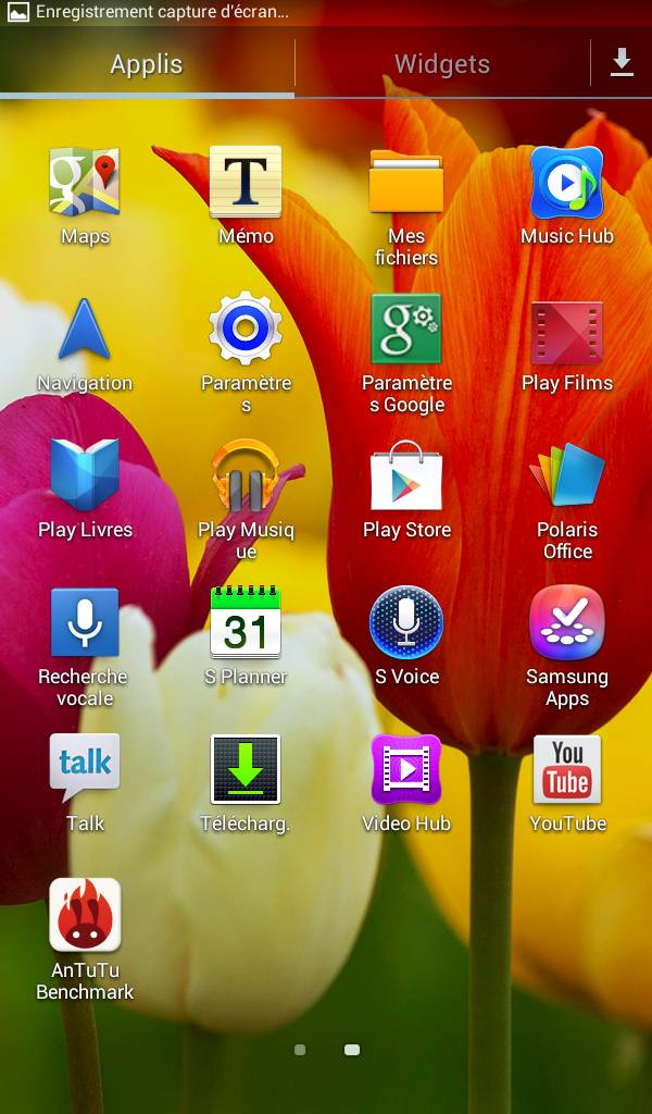 Galaxy Tab 3 (applications, suite)