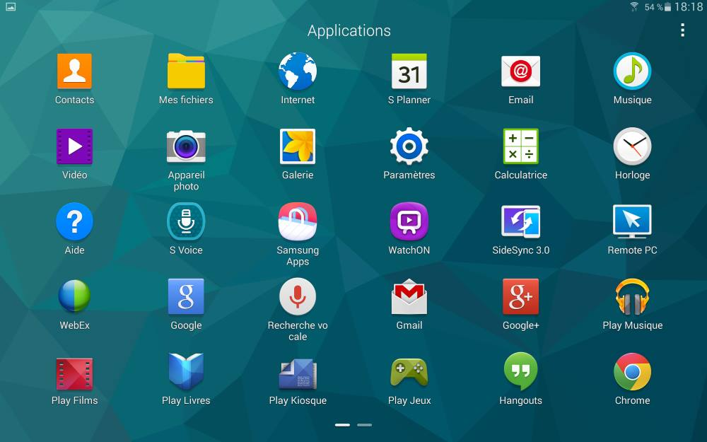 Galaxy Tab S 10.5 (applications)