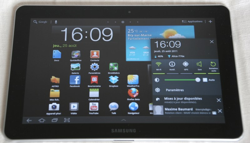 test comparatif ipad 2 vs galaxy tab 10 1 ou ios vs android tablette android. Black Bedroom Furniture Sets. Home Design Ideas
