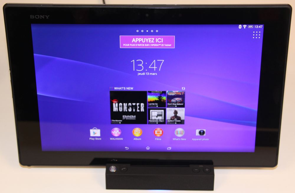 Xperia Tablet Z2 (sur le dock)