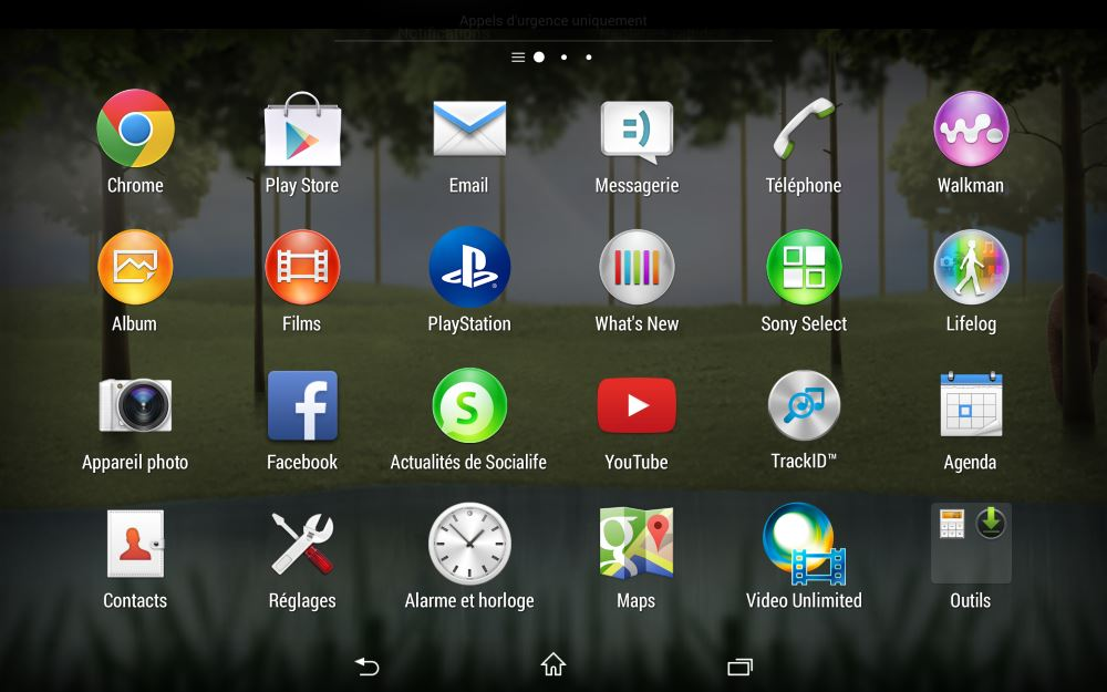 Sony Z3 Tablet Compact (applications 1)