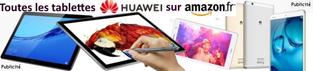 Tablettes Huawei sur Amazon